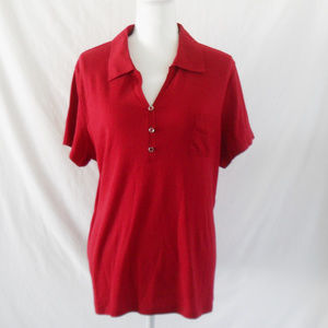 Karen Scott Red Top (Size XL)